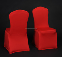 190gsm RED universal spandex elastic chair cover for bankquet/hotel/wedding/shows