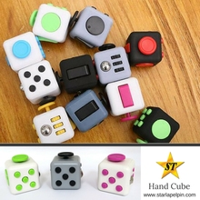 funny promotional anti stress relief cube hand toys