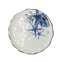 Tableware plain ceramic plate with chinese ink painting
