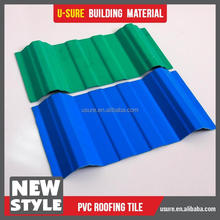 High durability flat roof plastic tile gazebo roof material