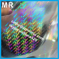 Accept custom order anti counterfeit hologram eggshell stickers,your unique hologram pattern security label destructible vinyl