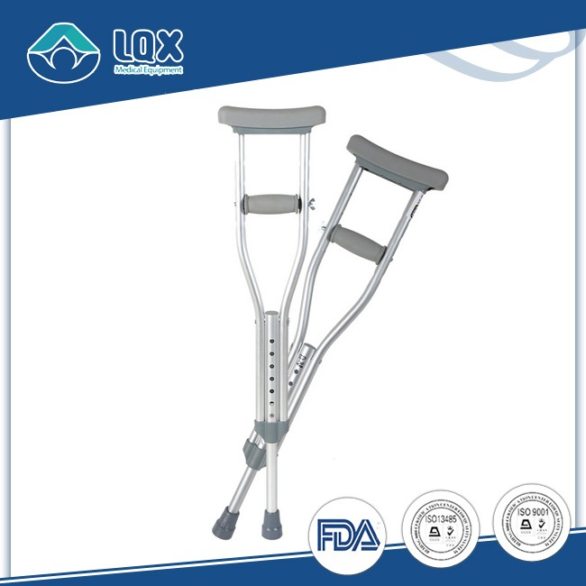High quality 300LBS Weight Capacity Silver aluminum elbow crutches