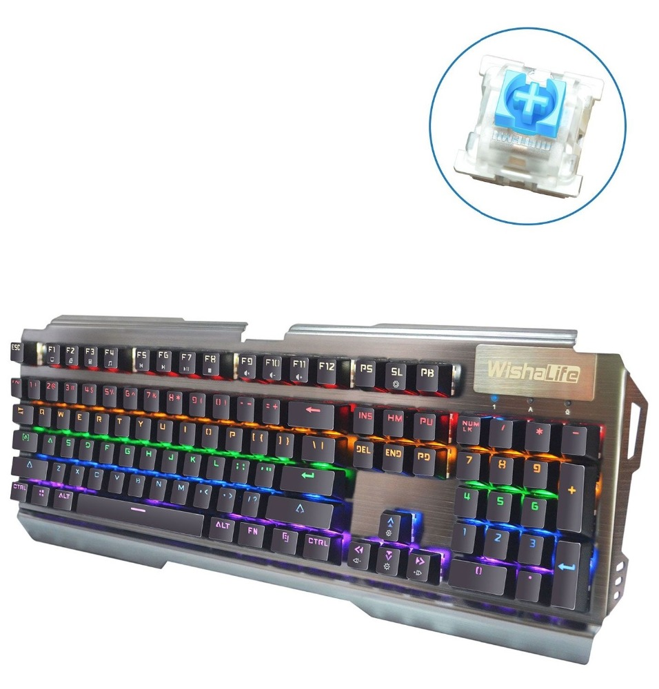 104 key anti-ghosting OUTEMU Blue switch RGB Mechanical Gaming keyboard for MAC gamers