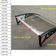 DIY window door polycarbonate canopy awning