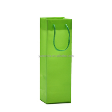 Single rectangle 7 colors pp plastic hand gift wine bottle bags