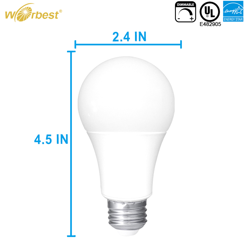 Worbest Low cost 100w equivalent a19 e26 led light bulb, led light bulbs wholesale