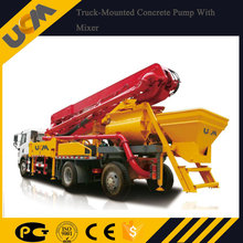 2017 newly launched truck mounted concrete pump with mixer