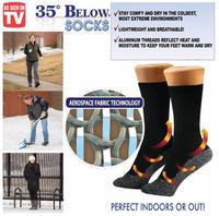 As seen on TV 35 Below Socks Keep Your Feet Warm and Dry Aluminized Fibers