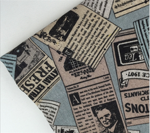 colorful english newspaper pattern printed linen cotton fabric for sofa and luggage and decorative cloth