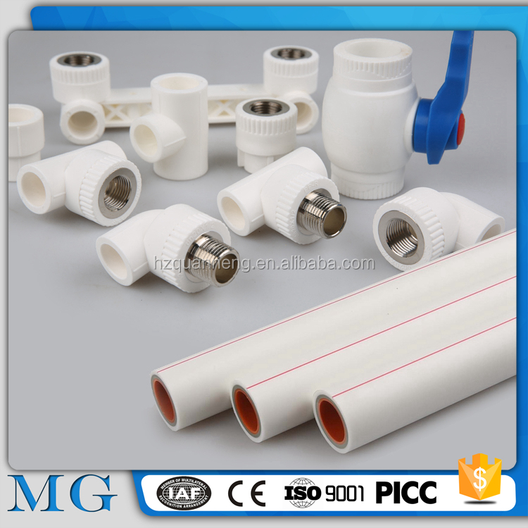 wholesale ppr fitting insert details plastic carbon fiber tube 25mm equal tee