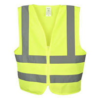 Reflective hi vis yellow safety vest