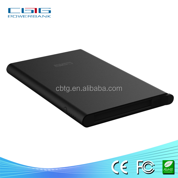 Slim design ! A3 universal smart power bank for any tablet pc ,psp .mp3/mp4 player