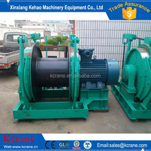 Hydraulic single drum marine mooring winch with double brake