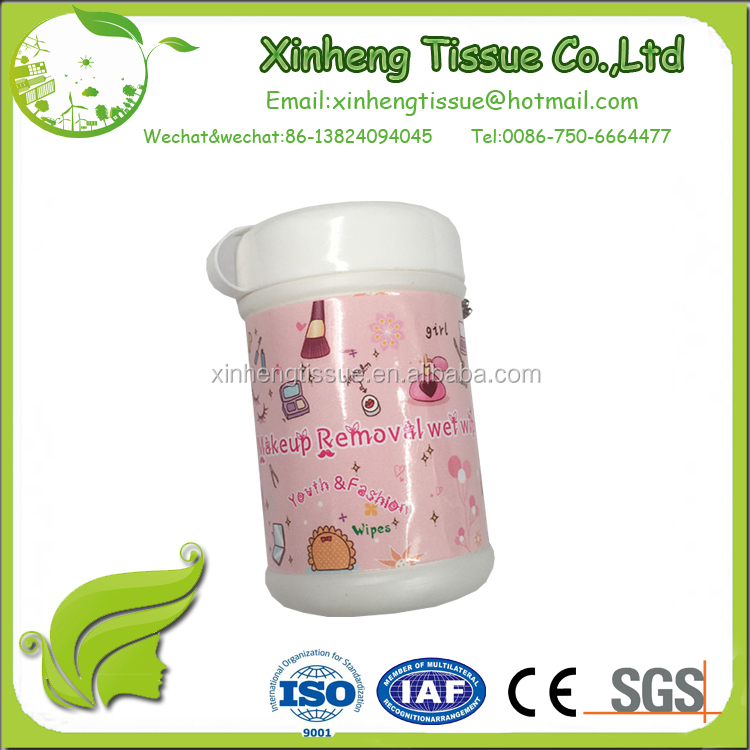 new promotional 30pcs mini tube cleaning wet wipes