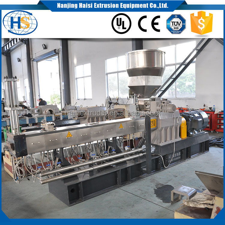 high quality co-rotating recycling washing line granules pelletizer pp pe raw material plastic extrusion machine extruder