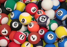 Directly sale custom design printed number pool rubber bouncing ball