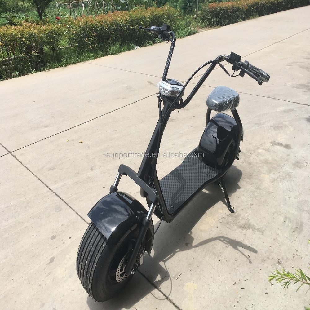 Sunport electric vehicle 2017 Hot Selling 800w harley citycoco scooter 2 wheel electrical scooter, adult electric motorcycle