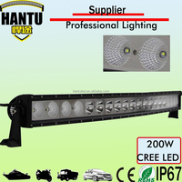 one row led light bar 200w 44.6 inch combo headlight curved light bar