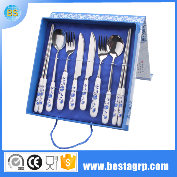 Flatware With Porcelain Handle Ceramic Cutlery Ceramic Cookware Sets