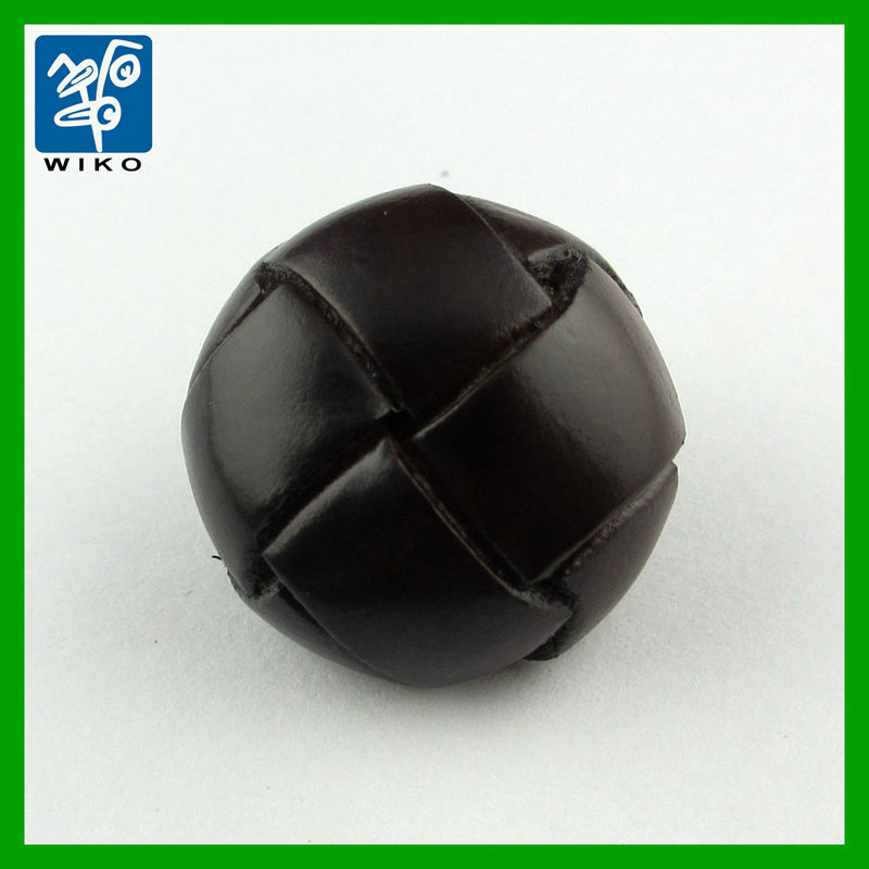 football shape real leather button made by real leather material