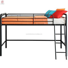 hot sale chinese cheap metal kids loft bed with slide