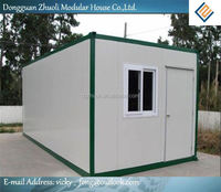 Modular prefab home kit price,low cost 20ft prefabricated container office