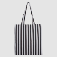 Hot Selling Black and white stripes Promotional canvas Ladies bag handbag tote bag