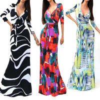 Sexy Women Summer Boho Long Maxi Evening Party Dress Beach Dresses Chiffon Dress wholesale clothes