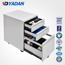 YADAN OFFICE FURNITURE metal filing cabinet handles 3 drawers movable pedestal