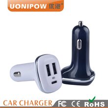 Wholesale High Quality Cheap Car Battery Charger Dual Rapid Usb with 4.8A Type c Car Charger for iphone Samsung