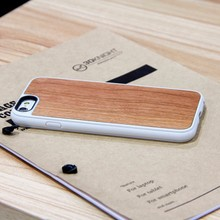 2015 High quality wood and bamboo cover case, wood cellphone case for iphone 6 with TPU+ wood with engraving