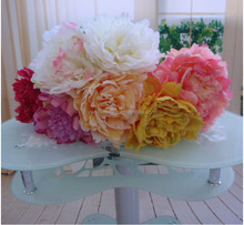 Wholesale decoration giant silk flowers tall single artifical peony flower