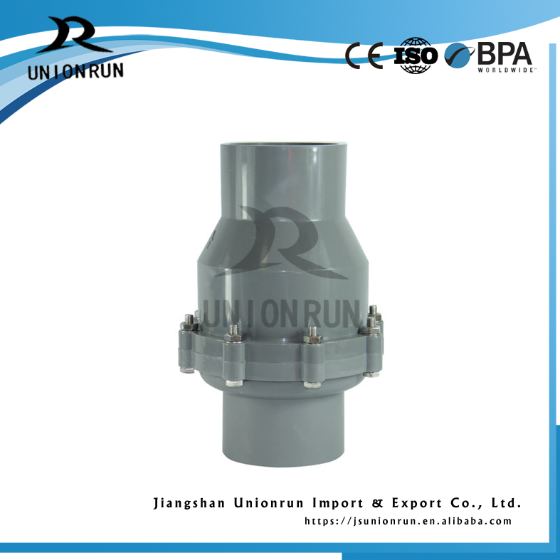 Plastic PVC Swing Check Ball Valve Price List
