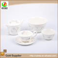 Made in china cheap price decal eco-friendly ceramic porcelain chinese tea table set