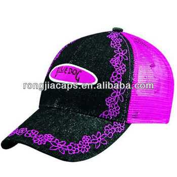 Fashion Mesh Embroidery Snapback Cap,Mesh Leisure Hat