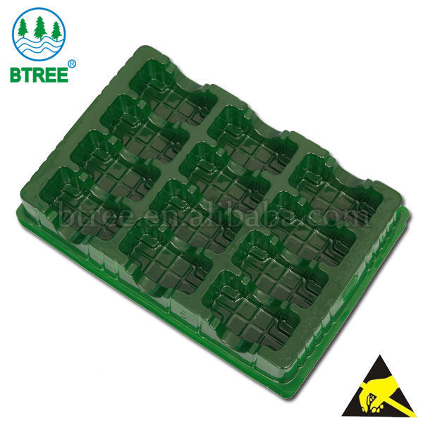 conductive electronic component tray