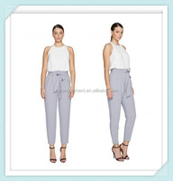 Ladies fashion pant with waist pleat