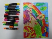 Water soluble crayon,Color Water Soluble Crayons- round