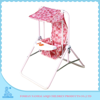 310 Steel Tube With Powder Coating Softtextile Baby Swing Bed