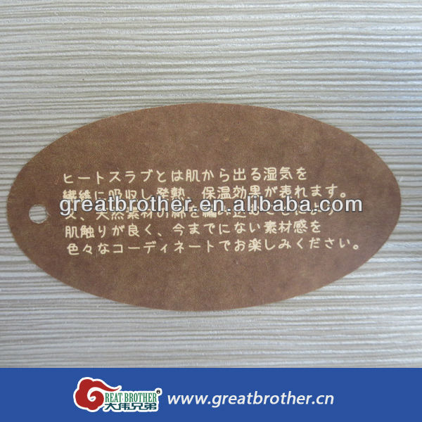kraft printing paper hang tags for garments/shoes/bags/machine parts