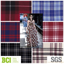 yarn dyed twill cotton cheap shirting dress flannel fabric from china suppiler