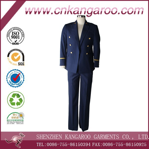 Single Button Flat Collar Navy Military Ceremonial Uniforms