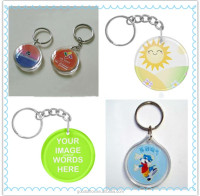 hot sales and new fashion trend advertising gift Acrylic keychain