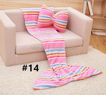 130cm children/180cm adult #14 coarse pink pillow/blanket Soft throw fleece blanket baby swaddle mermaid tail blankets