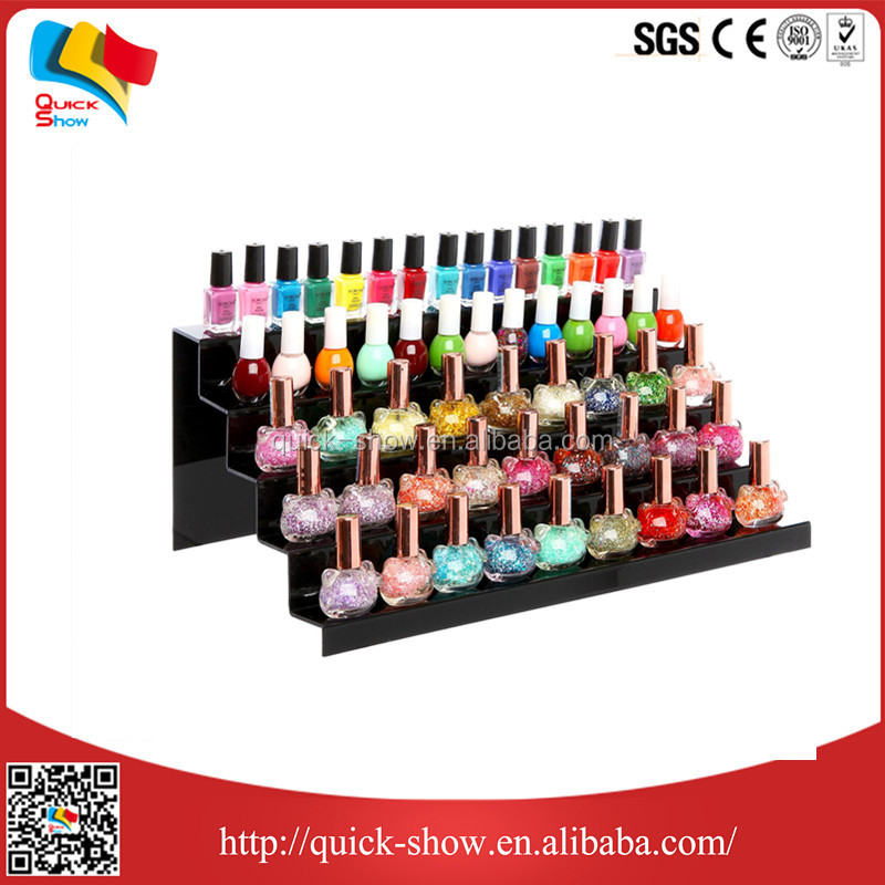 Transparent factory directly 3 tiers acrylic nail polish display rack