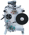 Semi-atuo round bottle labeling machine with date printer
