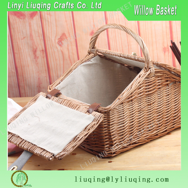 Liuqing Eco friendly rattan picnic storage basket Cheap promotional in bulk rattan and bamboo basket for food for kitchen