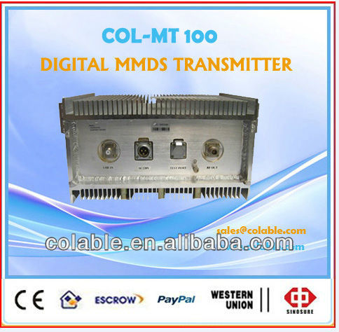 Digital tv Transmitter MMDS Broadband QAM/QPSK/COFDM la radiodifus digital tv sistema de mmds