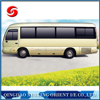 high quality for commercial bus/low fuel consumption champagne gold city bus/commercial mini bus