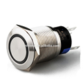 Professional manufacture flat round led metal pushbutton switch